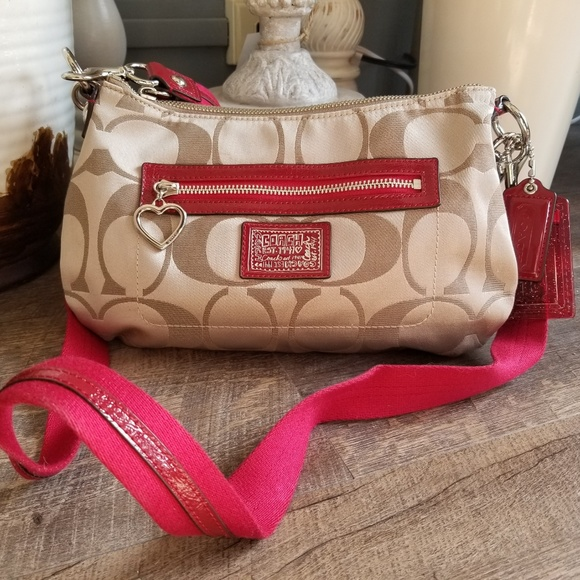 cc93c8a2df Coach Bags | Daisy Poppy Signature Crossbody F20044 Red | Poshmark